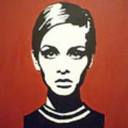 Red Twiggy Poster by Ruth Oosterman