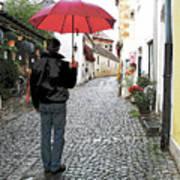 Red Umbrella Poster