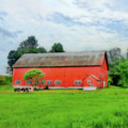 Red Vermont Barn Poster