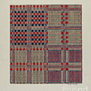 Red, White & Blue Coverlet Poster