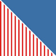 Red White And Blue Triangles Poster