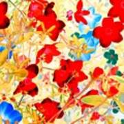 Red Wild Flowers Poster