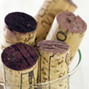 Red Wine Corks Poster