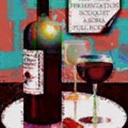 Red Wine For Two Poster