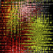 Red Yellow White Black Abstract Poster