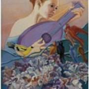 Redbird Sings To Farie Poster