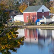 Redd's Pond Boathouse Marblehead Ma Massachusetts Poster