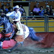 Rodeo Queen At The Grand National Rodeo Poster