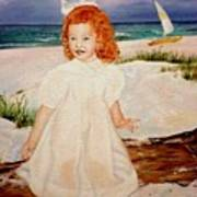 Redhead On Beach Poster