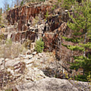 Redstone Granite Quarry - Conway New Hampshire Poster