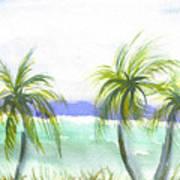 Reef Village Caribbean View Poster