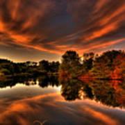 Reflecting Autumn Poster by Kim Shatwell-Irishphotographer