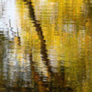 Fall Reflections 3 On Jamaica Pond Poster