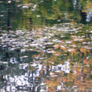 Fall Reflections 4 On Jamaica Pond Poster