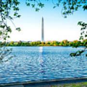 Reflection Of Washington Poster