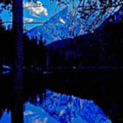 Reflection On String Lake Poster