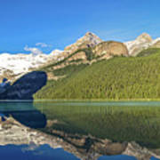 Reflections In The Water At Lake Louise, Canada Poster