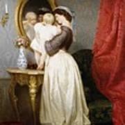 Reflections Of Maternal Love Poster by Robert Julius Beyschlag