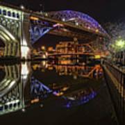 Reflections Of Veterans Memorial Bridge  Poster
