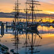 Reflectons On Sailing Ships Poster