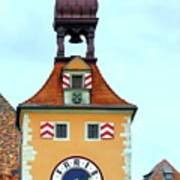 Regensburg Clock Tower Poster
