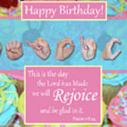 Rejoice And Be Glad Happy Birthday Poster