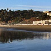 Relaxing At Ocean Beach San Francisco Poster