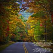 Relief Road  Blue Ridge Parkway Poster by John Haldane