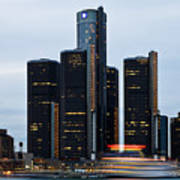 Renaissance Center At Dusk Poster by James Marvin Phelps