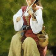 Renaissance Fiddler Lady Poster