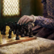 Renaissance Lady Playing Chess Poster