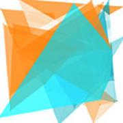 Research Polygon Pattern Poster