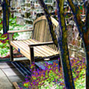 Rest In The Garden Poster