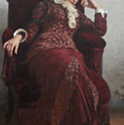 Rest. Portrait of Vera Repina, the Artist's Wife. Poster