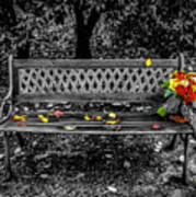 Resting Flowers Poster