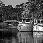 Resting Shrimp Boats Poster