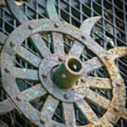 Retired Plow Wheel Poster