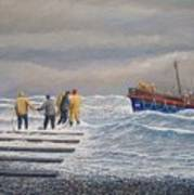 Retreiving The Royal National Lifeboat Institution Boat Charles Didbin  Poster