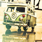 Retro 60s Toy Van Poster