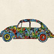 Retro Beetle Car 3 Poster