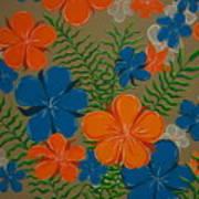 Retro Flowers Poster
