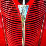Retro Red Grille Poster