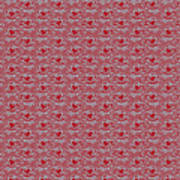 Retro Red Pattern Poster