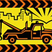 Retro Tow Truck Poster