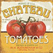 Retro Veggie Labels 4 Poster by Debbie DeWitt