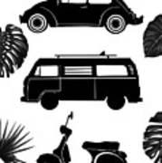 Retro Wheels Poster