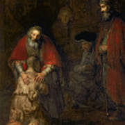 Return Of The Prodigal Son Poster by Rembrandt Harmenszoon van Rijn