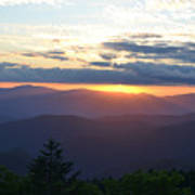 Returning Sunset Great Smoky Mountains Poster