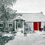 Retzlaff Winery With Red Door No. 2 Poster