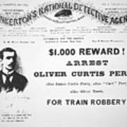 Reward Poster For The Arrest Of Oliver Perry Issued  Poster